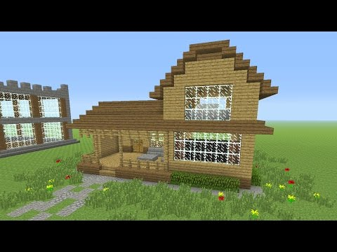 Minecraft Tutorial: How To Make An Awesome Wooden Survival House #4 (ASH#26)