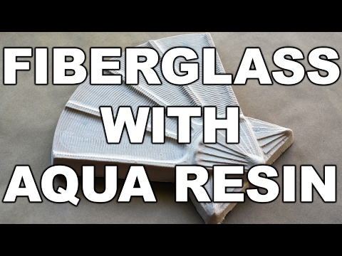 Fiberglass with Aqua Resin