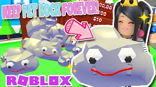 How To KEEP 🗿ROCK PET🗿 FOREVER Adopt Me ROBLOX April Fools Update