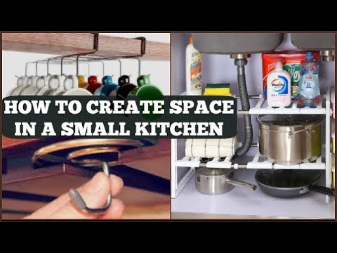 How to create space in a small kitchen | small kitchen organization ideas |space saving kitchen tips