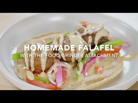 Homemade Falafel with the Food Grinder Attachment