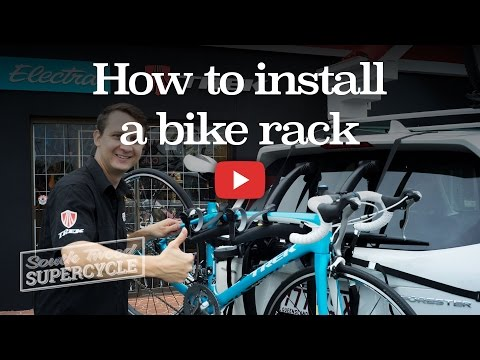 How to install a bike rack on a car