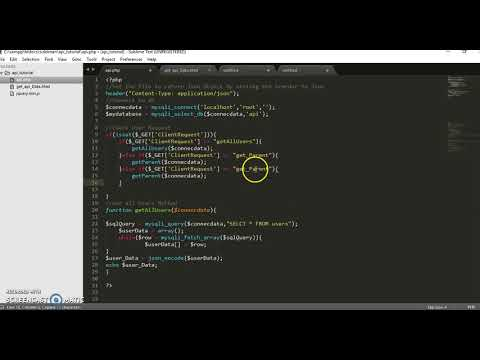 How to Create API with PHP Part 3- Creating Client side File
