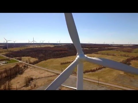 Maple Ridge Wind Farm - Aerial 4K