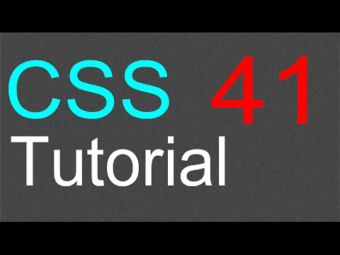 CSS Tutorial for Beginners - 41 - Vertical menu