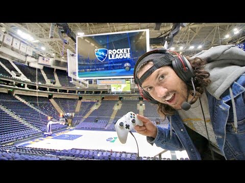 Playing Video Games in an NBA ARENA!!