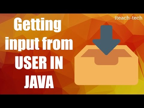 Getting user input in java