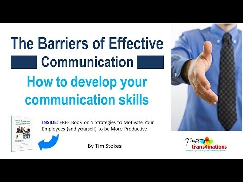 How to Develop Communication Skills | Barriers to Effective Communication | Communication Skills pdf