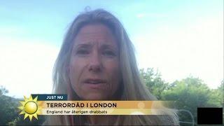 """Petra Nordlund Mcgahan """"Folk har fått nog nu"""" - Nyhetsmorgon (TV4)"""