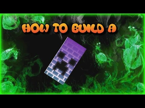 ✔MINECRAFT HOW TO BUILD A GLOWING CREEPER BANNER