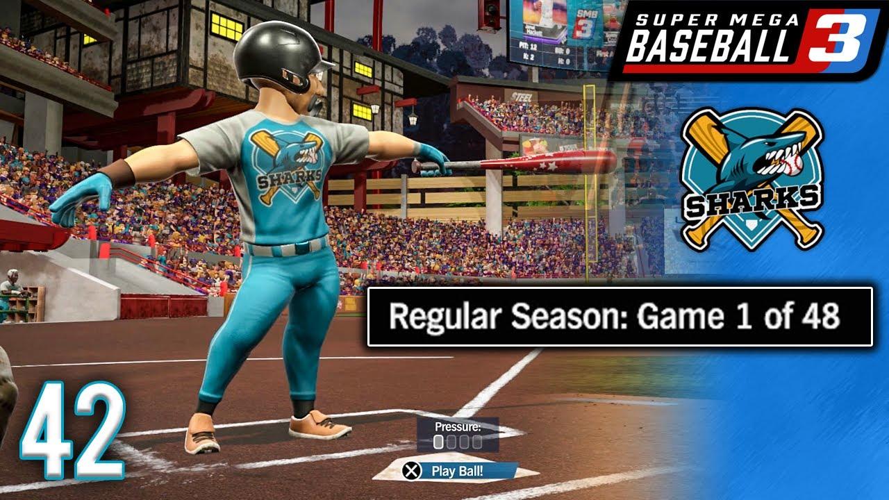 The Sharks Have Returned! (Opening Day) - Super Mega Baseball 3 Franchise - Ep.42