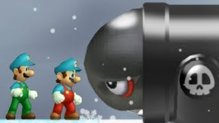 Newer Super Mario Bros Wii All Airships 2 Players