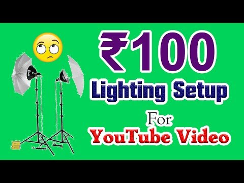 Rs 100 Lighting Setup For YouTube Video - Must Watch | Som Tips