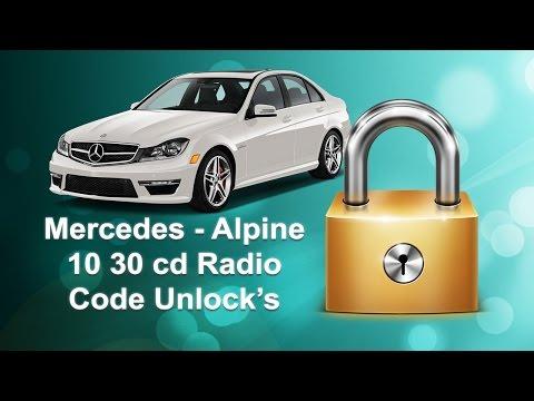 How To Find Mercedes Radio Code Serial Alpine MF2199/MF2910/MF2197/MF2297