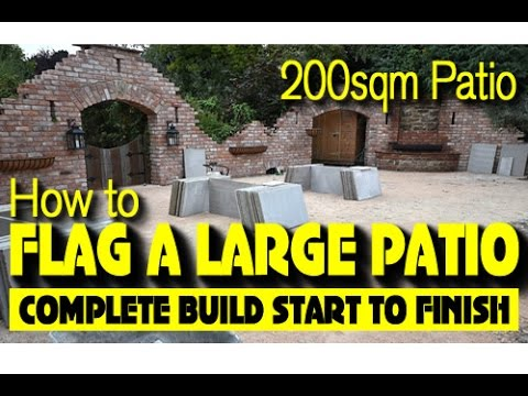 LAYING A 200SQM PATIO-GROUTING-BBQ-OUTDOOR KITCHEN, BACK GARDEN REMODEL