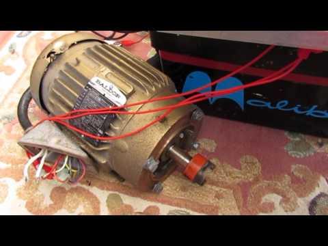 EV Conversion diy inverter first motor spin