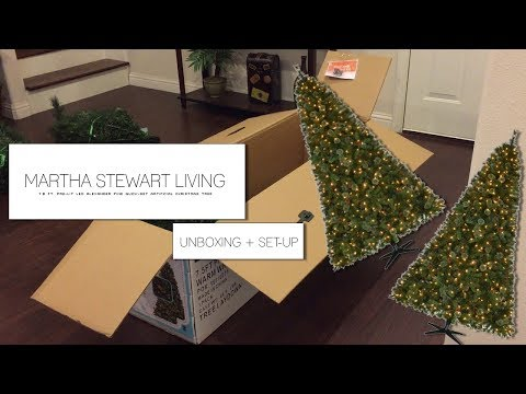 Martha Stewart Living  Alexander Pine Quick-Set Artificial Christmas Tree