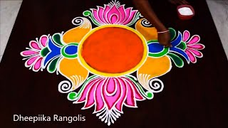 Happy New Year Rangoli 2018 47