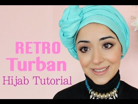 Retro Turban Tying Hijab Tutorial - Chemo Cap Scarf Tutorial For Cancer Patients