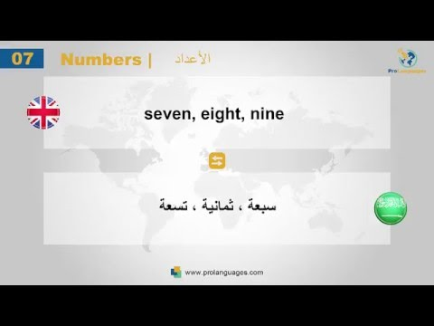 learn and speak language arabic # Numbers