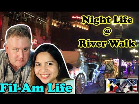 Filipina-American Couple | ROAD TRIP | HOUSTON TO SAN ANTONIO | NIGHT LIFE @ RIVERWALK | Vlog#14