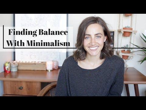 Finding Balance With Minimalism
