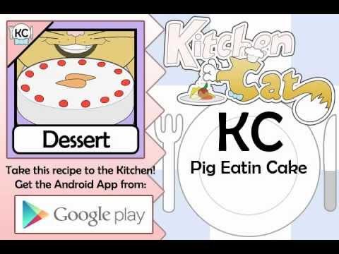 Pig Eatin Cake - Kitchen Cat
