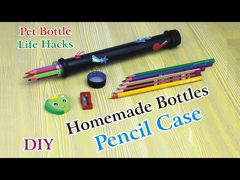 Reuse Bottle Caps - How To Make Pencil Case with Recycle Plastic Bottles Life Hacks
