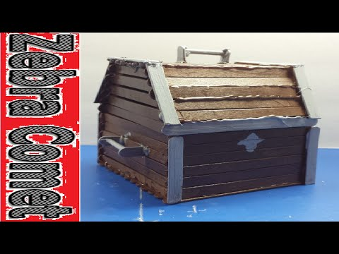 How To Make A Treasure Chest Using Popsicle Sticks