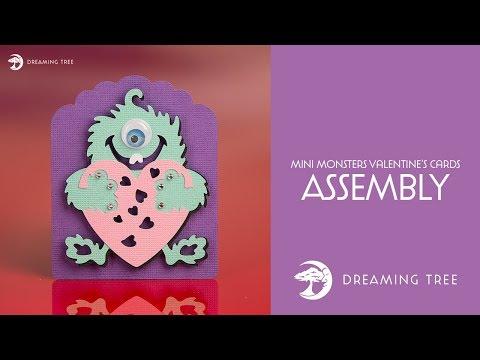 SVG File - Mini Monsters Valentine's Cards SVG - Monster B