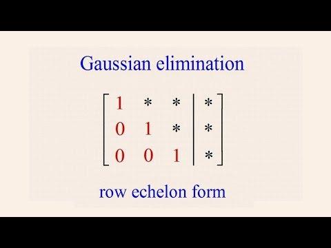 Algebra 54 - Gaussian Elimination