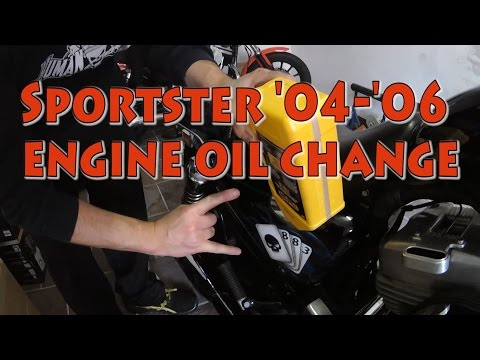 How to change oil and oil filter on a '04-'06 Harley-Davidson Sportster
