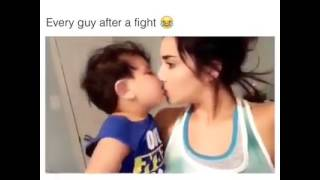 Every guy after a fight. ❤