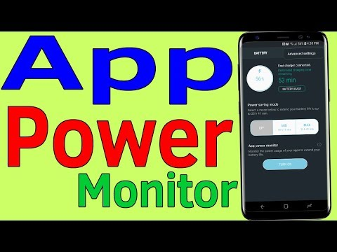 How To Turn On App Power Monitor On Smasung Galaxy J7/S7/S8/S9 Android Phone - Helping Mind