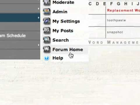 Using your Church's Forum Word Filter