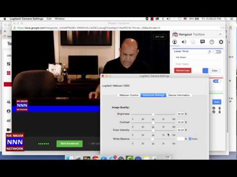 Using Logitech C920 with MacBookpro for live video streaming to YouTube