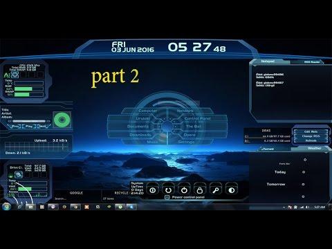 How To Make A 3D Desktop Screen Rainmeter Desktop Customization Part 2 Urdu/hindi 2016