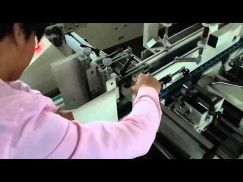 Setup For UFG800 Automatic Paper Cup Jacket Folding and Gluing Machine