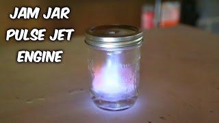 Jam Jar Pulse Jet Engine Test