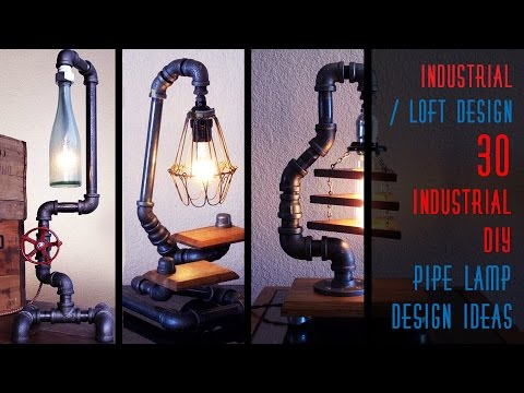 30 Industrial DIY Pipe Lamp Design Ideas
