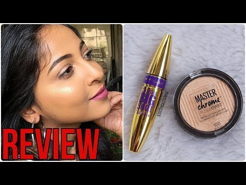 *NEW* MAYBELLINE Master Chrome Metallic Highlighter & Big Shot Mascara REVIEW | Stacey Castanha