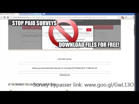 How to bypass (skip) surveys for free NeedForFile TinyFilesHost and more