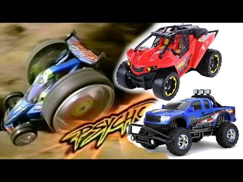 Remote Control Cars - Retro Tyco R/C Physco 1997 - Hot Wheels High Jump Frenzy