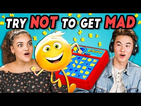 TEENS REACT TO TRY NOT TO GET MAD CHALLENGE #4 (ft. Laurie Hernandez)
