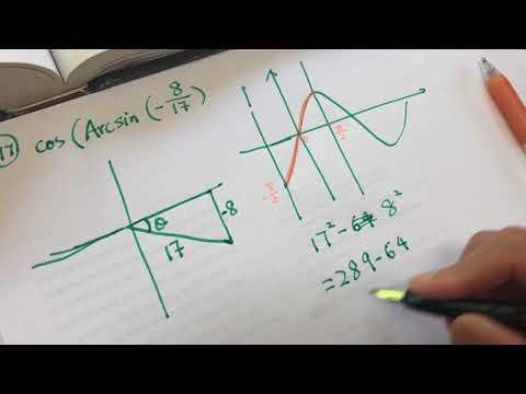 algebra 2 - trigonometry inverse function 02 asmr