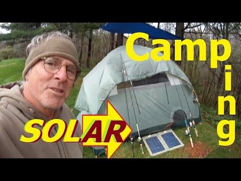CAMPING Ohio  Aep Recreational land SOLAR POWER Homemade solar 12 VDC heater