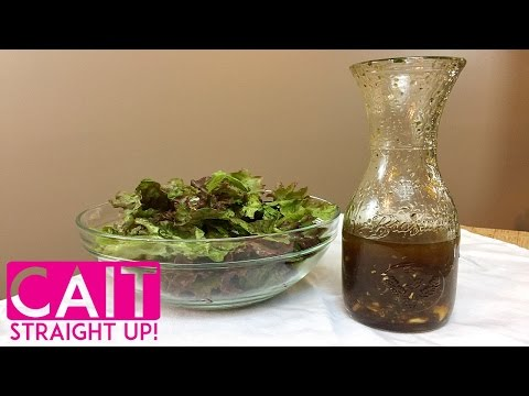 How To Make Balsamic Vinaigrette Dressing | Cait Straight Up
