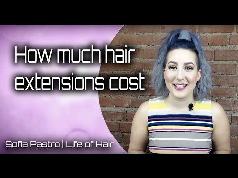 How much hair extensions cost