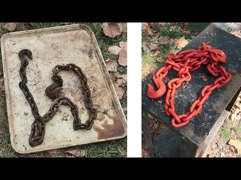 Old Diamond Duluth Chain Cleaning / Rust Removal / Restoration