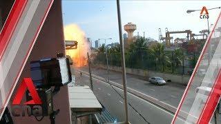 Van explosion near church in Sri Lanka
